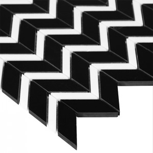 Dunin Mozaika  Pure Black CHEVRON mix
