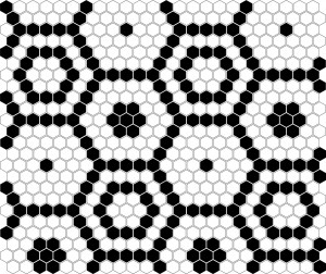 Dunin Mozaika Mini Hexagon B&W BEE