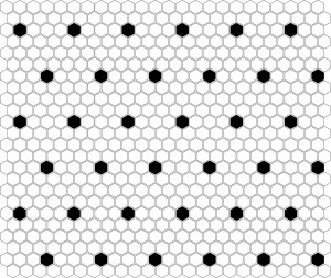 Dunin Mozaika Mini Hexagon B&W SPOT