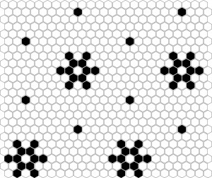 Dunin Mozaika Mini Hexagon B&W SNOW