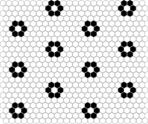 Dunin Mozaika Mini Hexagon B&W FLOWER