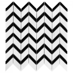 Dunin Mozaika  Pure White CHEVRON mix