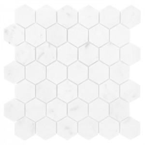 Carrara Hexagon 48